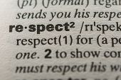 pic of respect  - Definition of the word respect close up - JPG