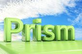 picture of prism  - Green Prism text in front of clouds and heaven  - JPG