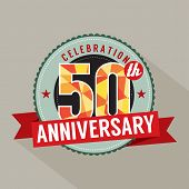 picture of 50th  - 50 Years Anniversary Celebration Design Vector Illustration - JPG