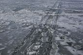 picture of icy road  - icy path - JPG