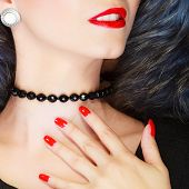 stock photo of red-necked  - Fashion elegance and beauty - JPG