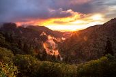 Постер, плакат: Great Smoky Mountains Sunset