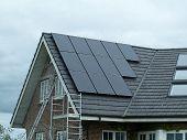 picture of environmentally friendly  - Modern design small solar panel for green environmentally friendly energy - JPG