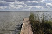 Old Wooden Footway On Lake Nero, Russia