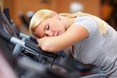 Sleeping Woman In Gym