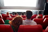 stock photo of watching movie  - cinema - JPG