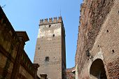 stock photo of juliet  - Verona, an ancient castle on the river - Italy