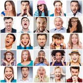 Постер, плакат: Diverse People With Different Emotions