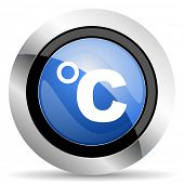 picture of temperature  - celsius icon temperature unit sign original modern design for web and mobile app on white background  - JPG