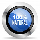 picture of 100 percent  - natural icon 100 percent natural sign original modern design for web and mobile app on white background  - JPG