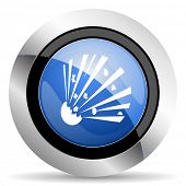 stock photo of bomb  - bomb icon  original modern design for web and mobile app on white background  - JPG