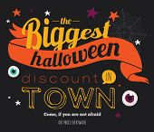 image of halloween  - Bright trick or treat poster in vector - JPG