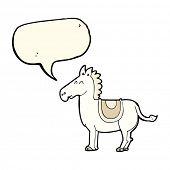 pic of donkey  - cartoon donkey with speech bubble - JPG