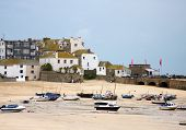 foto of st ives  - dry harbor St Ives in Cornwall - JPG