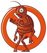 Pest extermination sign