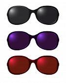 Vector conjunto de gafas de sol de color