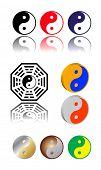 Vector símbolo de ying yang
