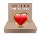 cardboard box with heart