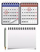 Vektor-Icons für Kalender und Notizblock