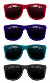 colored sunglasses vector