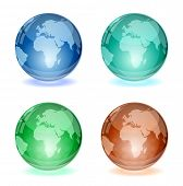 vector abstract glossy globe