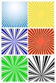 vector abstract rays background