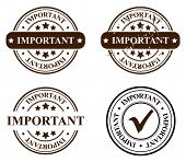 vector stamp - important