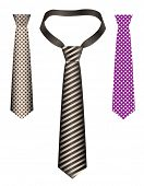 silk tie with patterns - vector