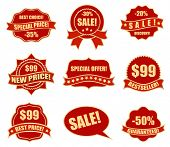 design elements for business - sale tags