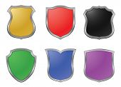 vector colored shields - design elements