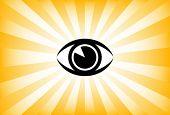 Vector de sunburst ojo brillante.
