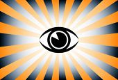 Vector de ojo sunburst.