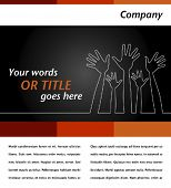 Business or education hand design vector.