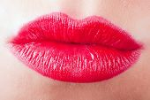 pic of pouty lips  - a kiss mouth with red lips sexy - JPG