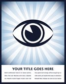 Diseño llamativo sunburst de ojo con el espacio de la copia.