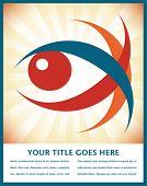 Diseño llamativo del ojo con el espacio de texto.