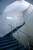 stairs in business building going on an next floor