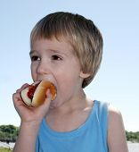 Boy With Hot Dog