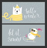 Holiday cards - Hello Winter poster
