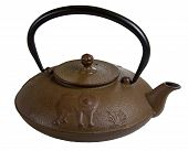 Traditional Japanese Cast Iron Teapot Right Side