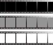 three variation of drawn film that can be used as a place holder