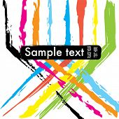 Abstract paint brush stroke background design in rainbow colours