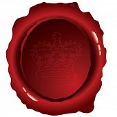 Old fashioned wax seal ideal to indicate security