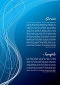 Abstrato em diferentes tons de azul com espaço de cópia
