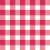 Traditional red and white checked seamless pattern background