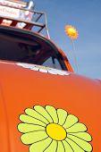 image of beetle car  - a classic flower - JPG