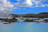 Blue lagoon, Iceland, a geothermal bath resort.