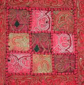 Hand embroidered wall hanging from Thailand.