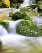Small natural spring waterfall