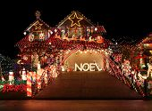 VANCOUVER - DEC 16: This home is one of many on the tour of most beautiful Christmas light displays